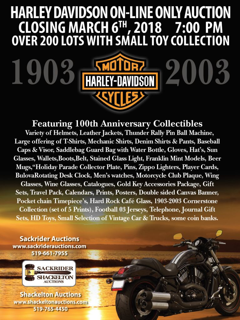 Sackrider Auctions Harley Davidson Online Only Auction