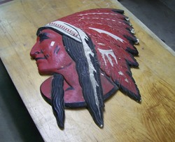 100_6130 larry clapperton%27s rare plaster red indian head.JPG
